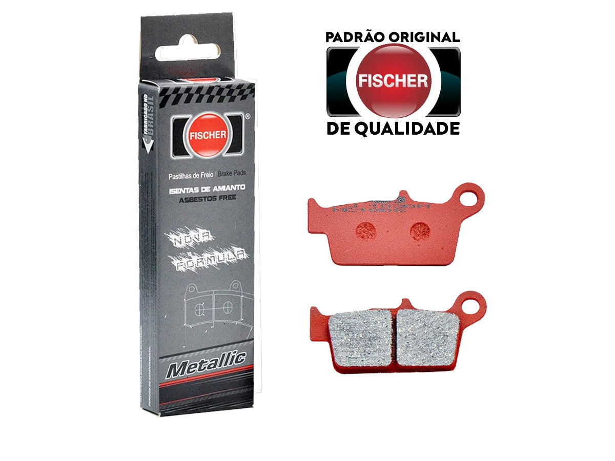 PASTILHA DE FREIO TRASEIRA HONDA XR R 440 2000/... FISCHER(FJ1030)