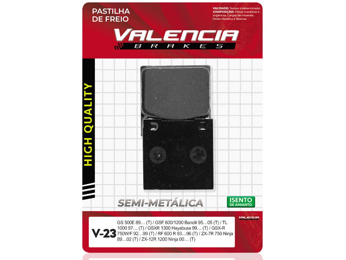 PASTILHA DE FREIO TRASEIRA SUZUKI GSX-R 600CC 2001 A 2003 VALENCIA (V23)
