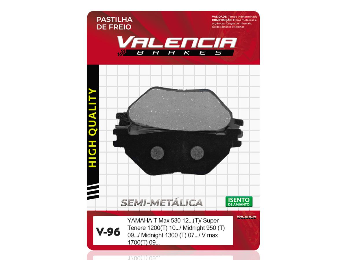 PASTILHA DE FREIO TRASEIRA YAMAHA XVS MIDNIGHT STAR 950CC 2009/... VALENCIA(V96)