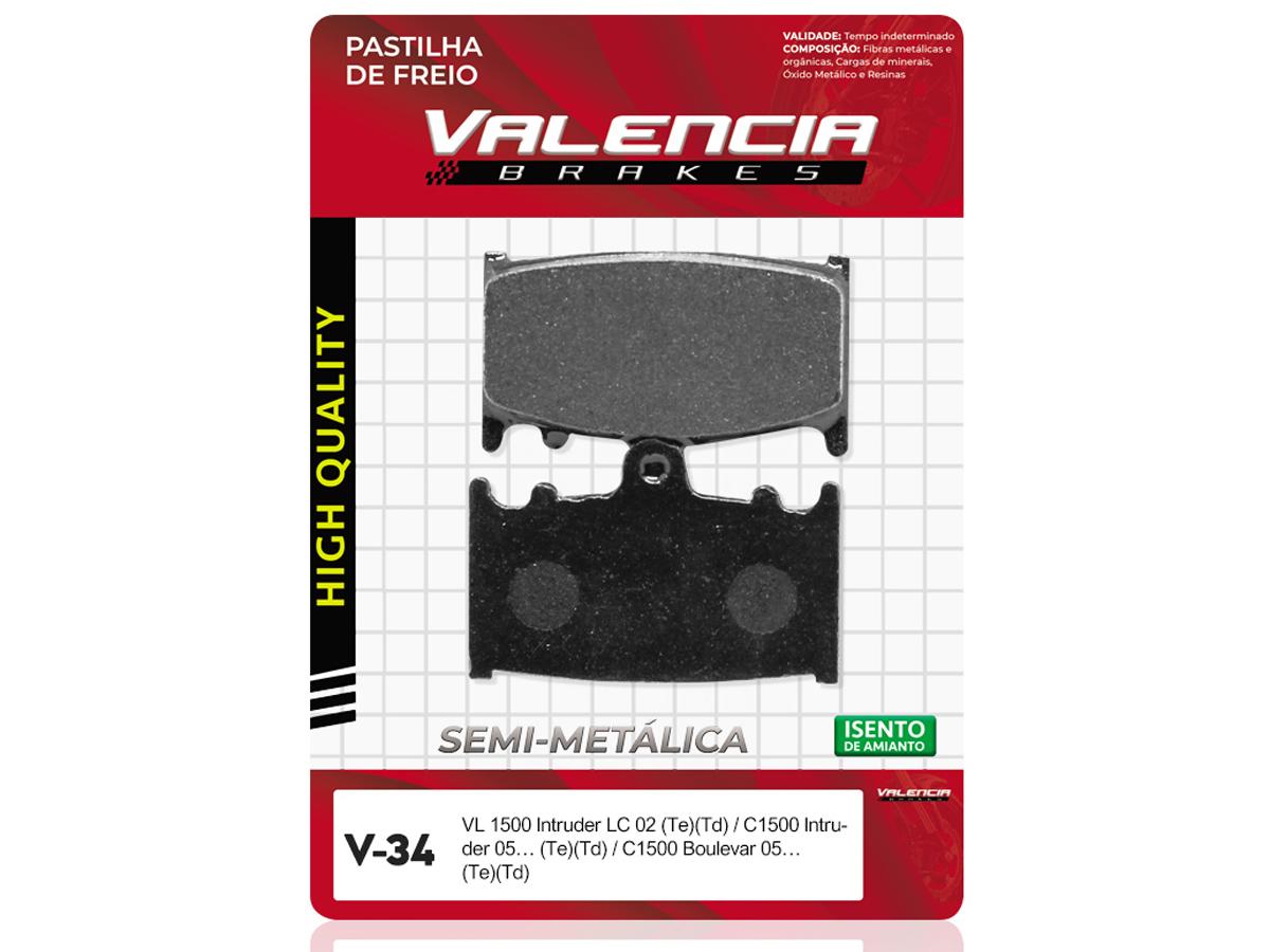 PASTILHA DE FREIO TRASEIRO HONDA CR 125 / CR 125E 2002/... VALENCIA (V36)