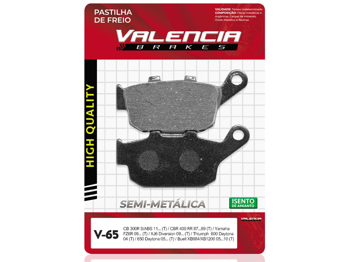 PASTILHA DE FREIO TRASEIRO HONDA NT 650V 1994/... VALENCIA (V65)
