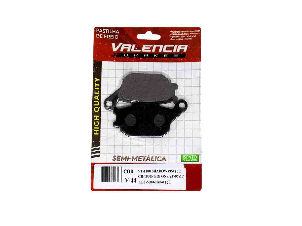 PASTILHA DE FREIO TRASEIRO HONDA VTR 1000 SP-1 / SP-2 2000/... VALENCIA (V44-FJ1150)