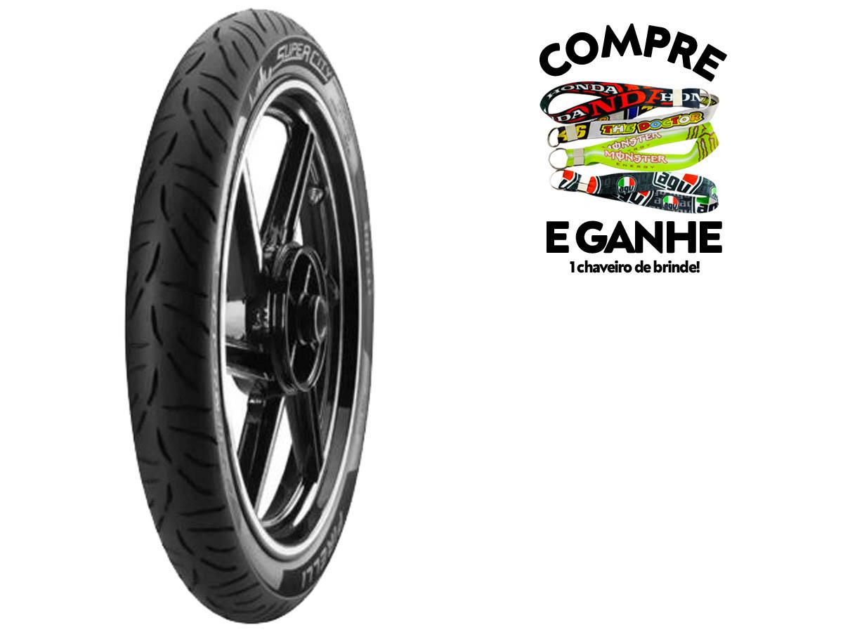 Pneu Dianteiro Honda CG/ Titan/ FAN 125/ 150/ 160 80-100-18 Super City Pirelli 47P tl(SEM Câmara)