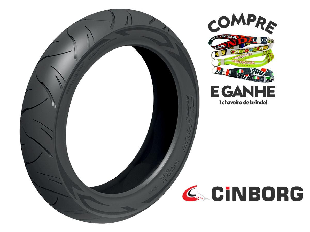 PNEU DIANTEIRO HONDA PCX 150 90-90-14 FURIA RACER CINBORG 46P TL(SEM CÂMARA)