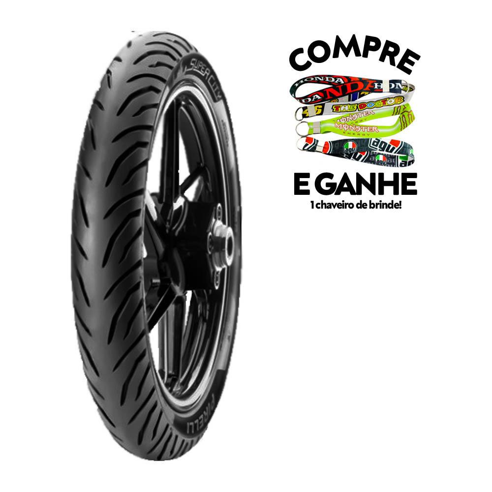 Pneu Traseiro Honda CG/ Titan/ FAN 125/ 150/ 160 100-90-18(Mais Largo) Super City Pirelli 56P tl(SEM Câmara)