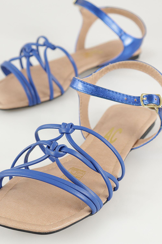 Sandália Chiquiteira Rasteira Tira Nó New Classic Blue AC