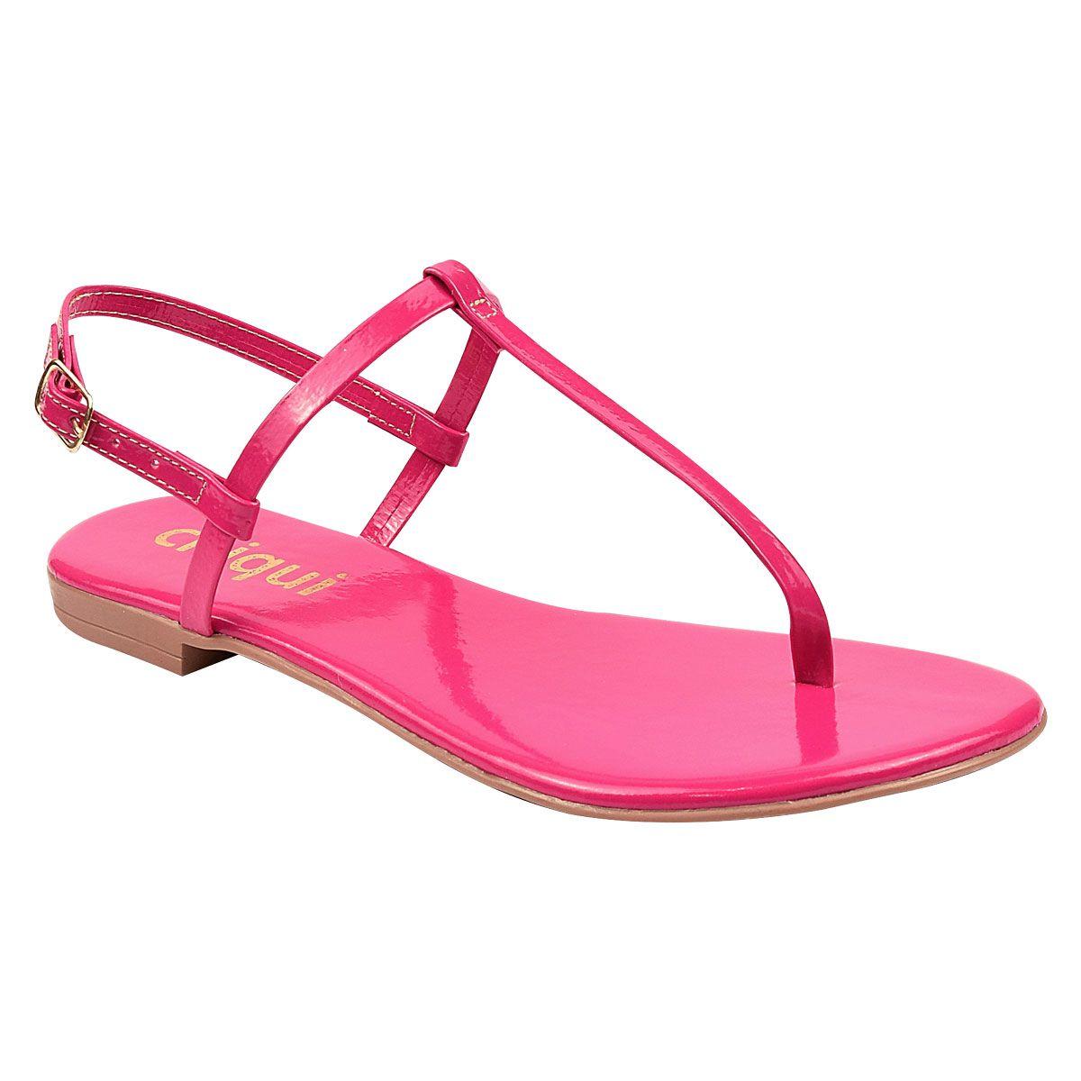 Sandália Chiquiteira Rasteira Verniz Pink DON