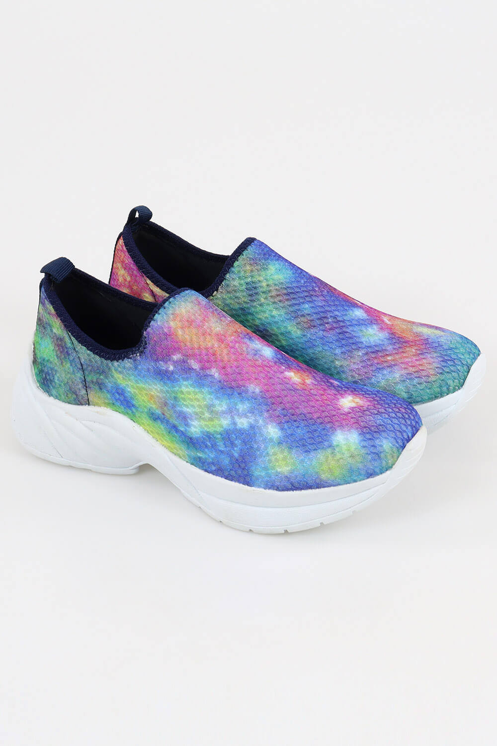 Slip On Chiquiteira Casual Calce Fácil Nylon Tie Dye AC