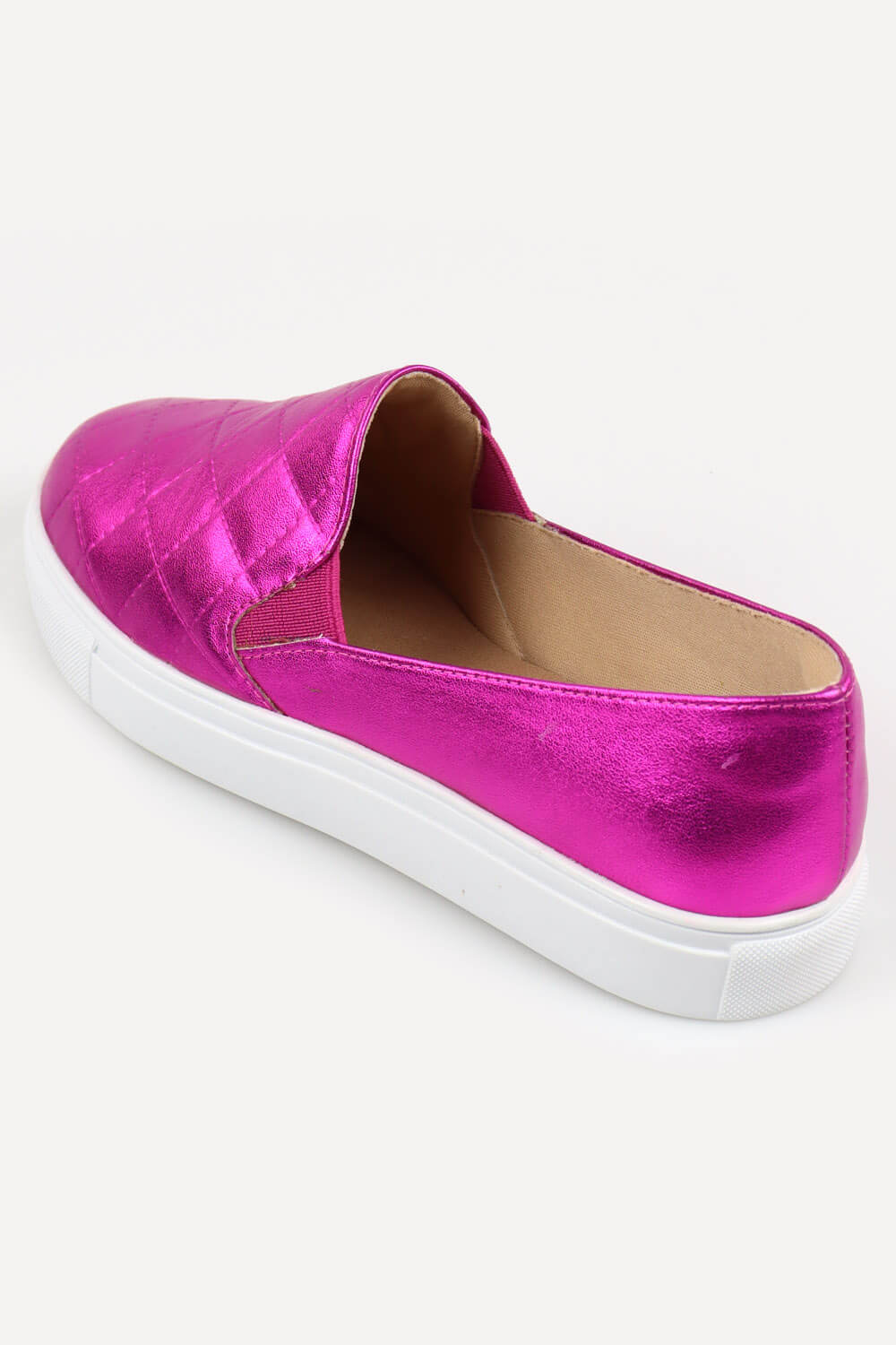 Slip On Chiquiteira Casual Costurado Metalizado Pink ZAD