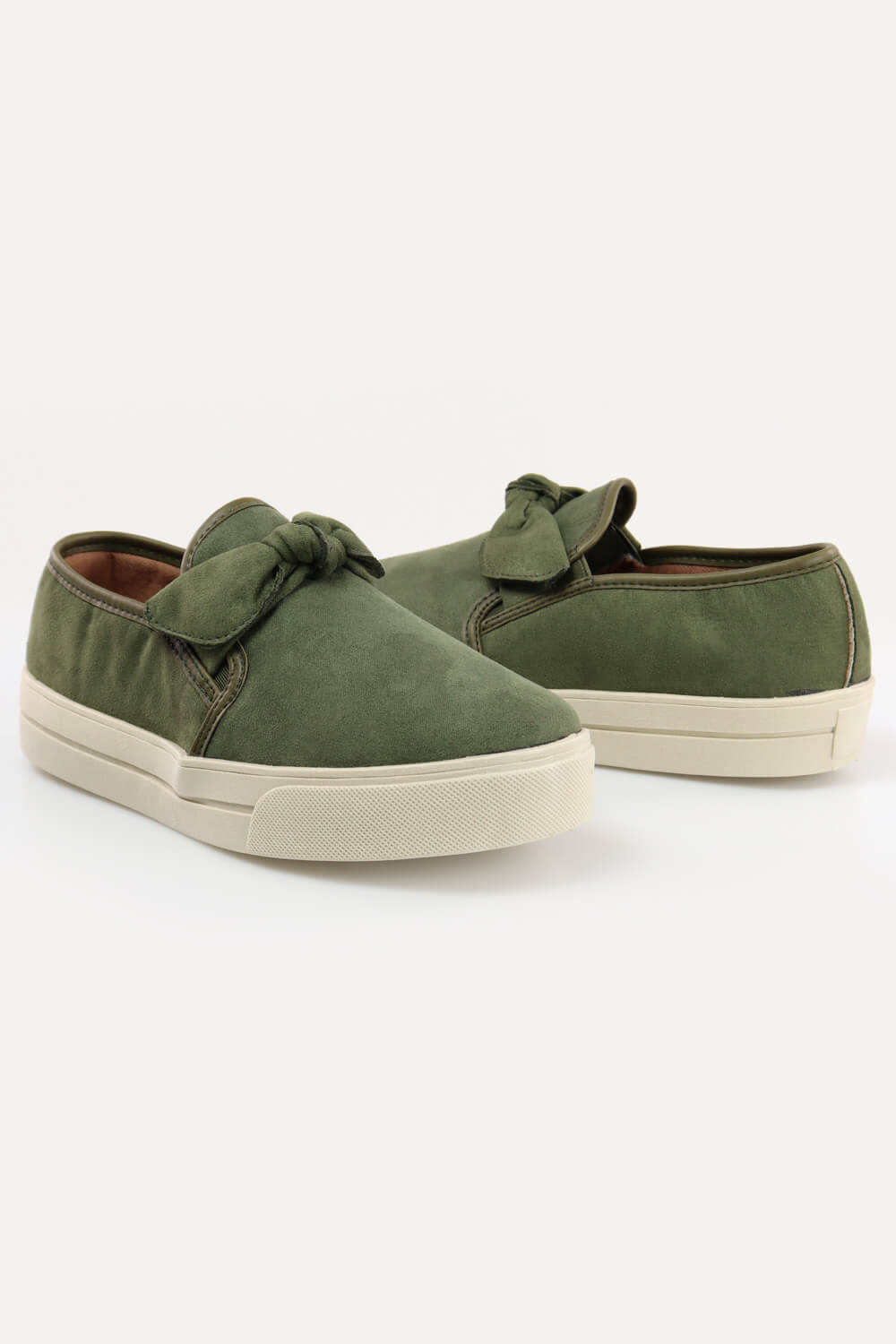 Slip On Chiquiteira Casual Laço Suede Army MKS