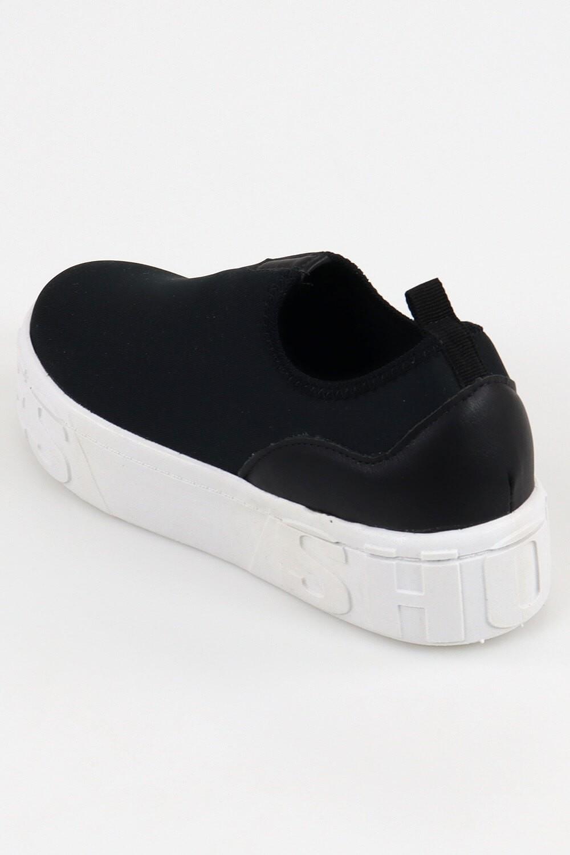 Slip On Chiquiteira Casual Shoes Helanca Preto AC