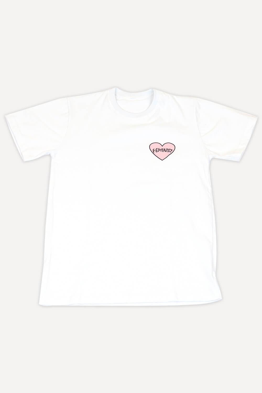 T-Shirt Chiquiteira Feminist Branco MD09