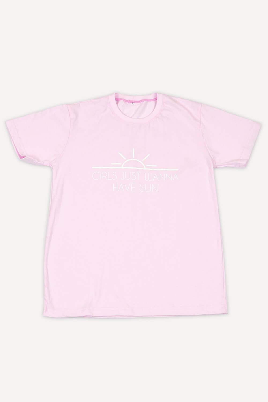 T-Shirt Chiquiteira Girls Just Wanna Have Sun Rosa MD03