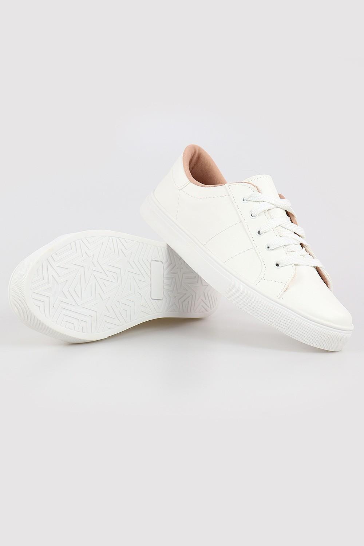 Tênis Chiquiteira Casual Branco/Branco STP