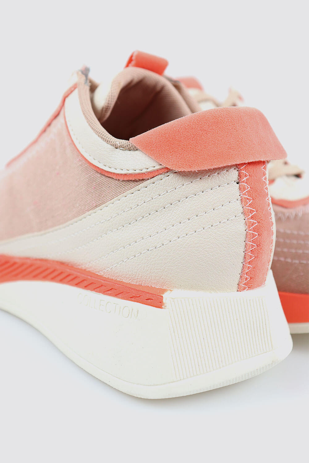 Tênis Chiquiteira Casual Lona Nude/Branco/Coral TLH