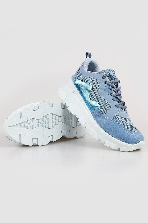 Tênis Chiquiteira Casual Sola Plataforma Blue/Aqua AC