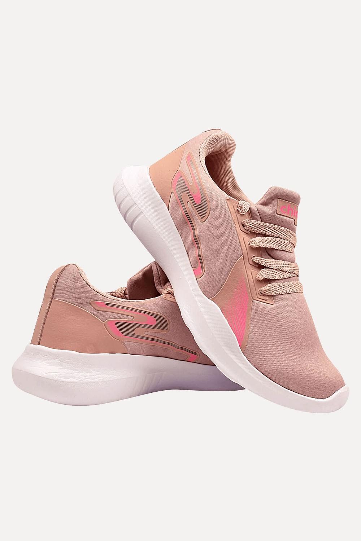Tênis Chiquiteira Esporte Helanca Nude/Pink WF
