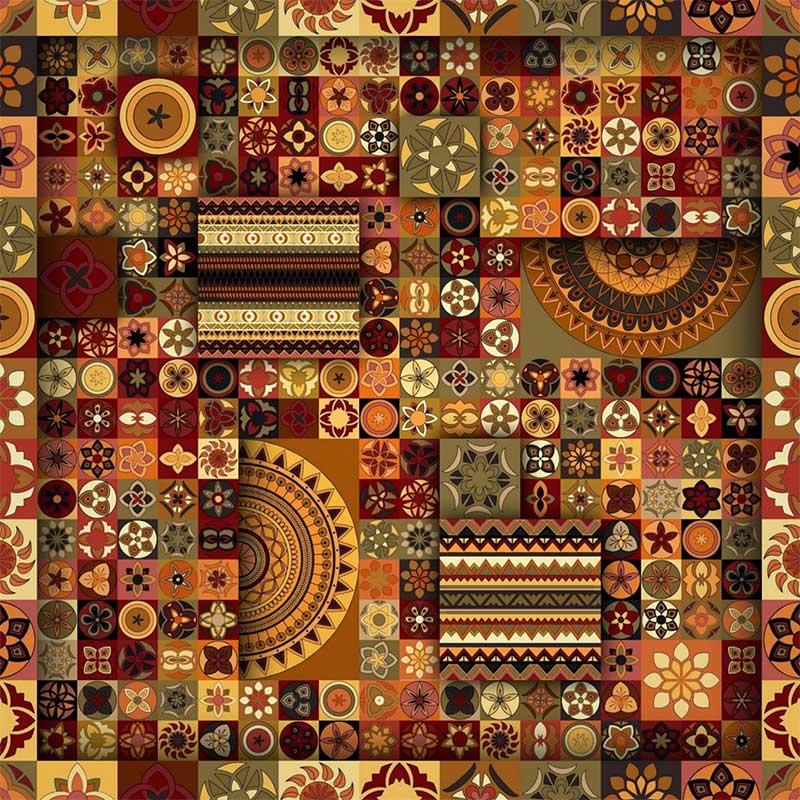 1000 Tons Coleção Digital Indiano - 50cm x 150cm