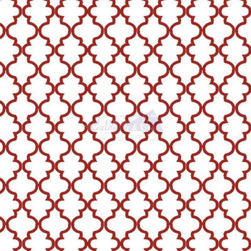 Caldeira Coleção Estrelas do Cinema - Estampa Ana Branco com Vermelho - 50cm x 150cm