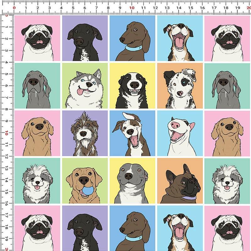 Casa Criativa Coleção Mi Pets - Dogs  - 50cm X150cm