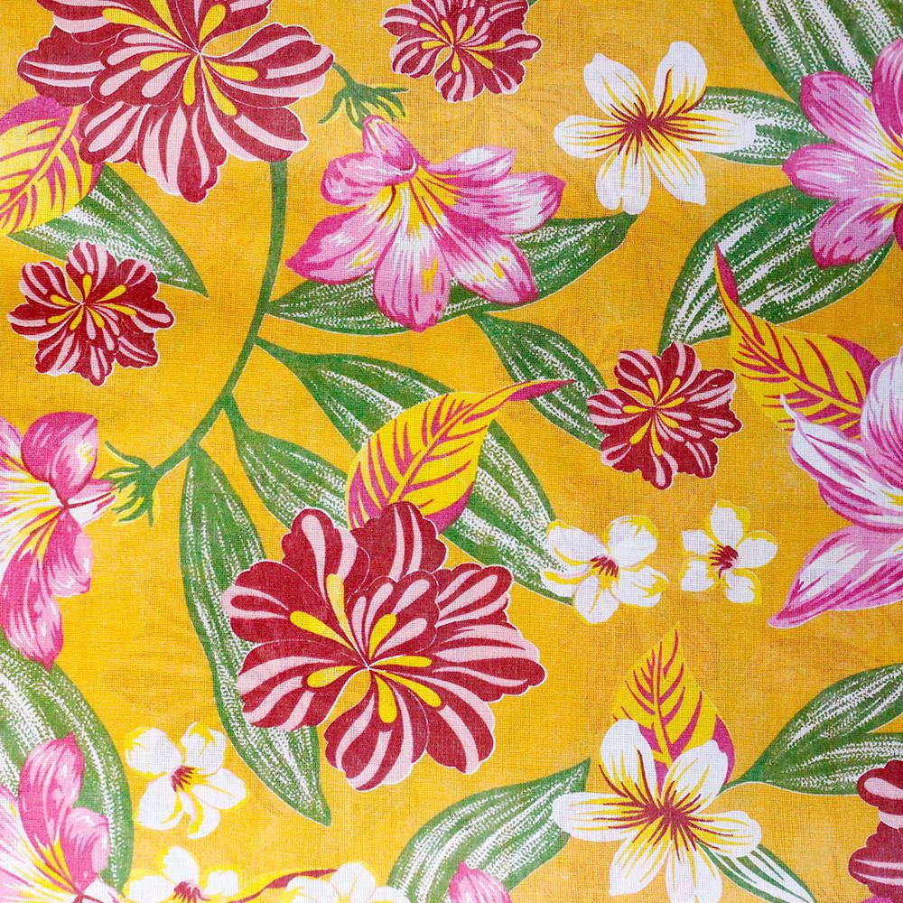 Chita Floral Fundo Amarelo 50cm x 140cm