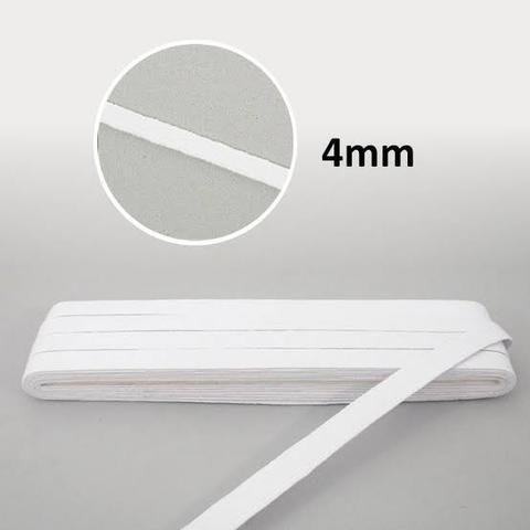 Elástico Chato Macio 4mm Branco Para Máscara Descartável  - 1 metro