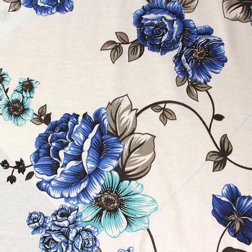 Estampa Floral Azul - 50cm x 220cm