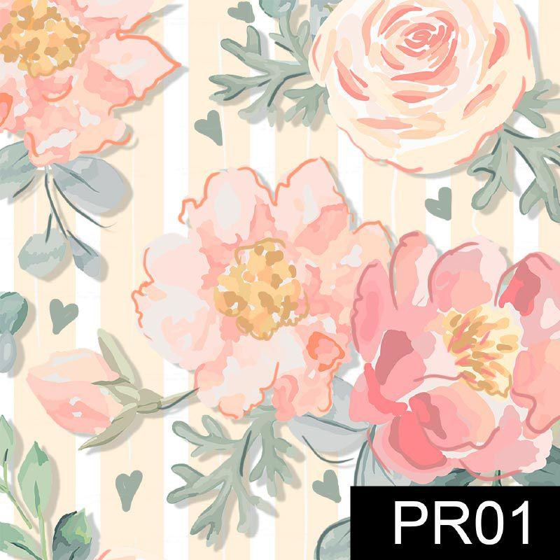 Fuxicos e Fricotes - Coleção Veneza - Floral Veneza Rosê - 50cm X150cm