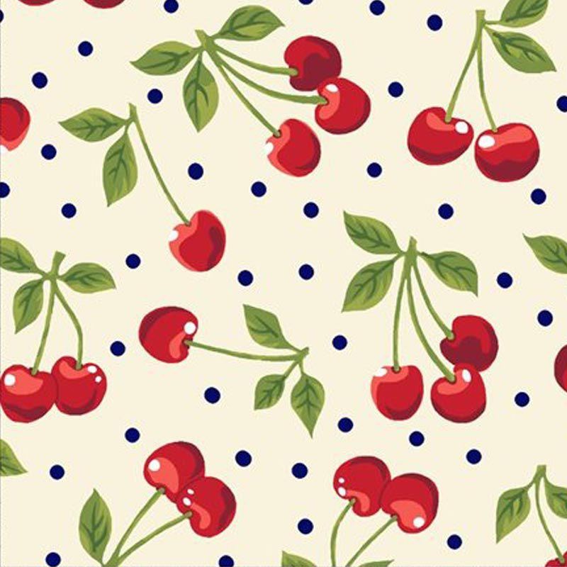 Eva e Eva Coleção Frutas - Cereja Creme - 50cm x 150cm