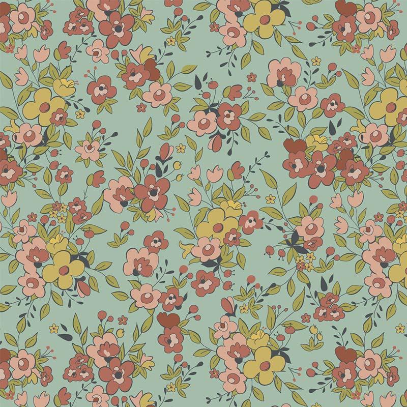 Fabricart Coleção Aromas do Campo - Aroma Tiffany - 50cm x 150cm