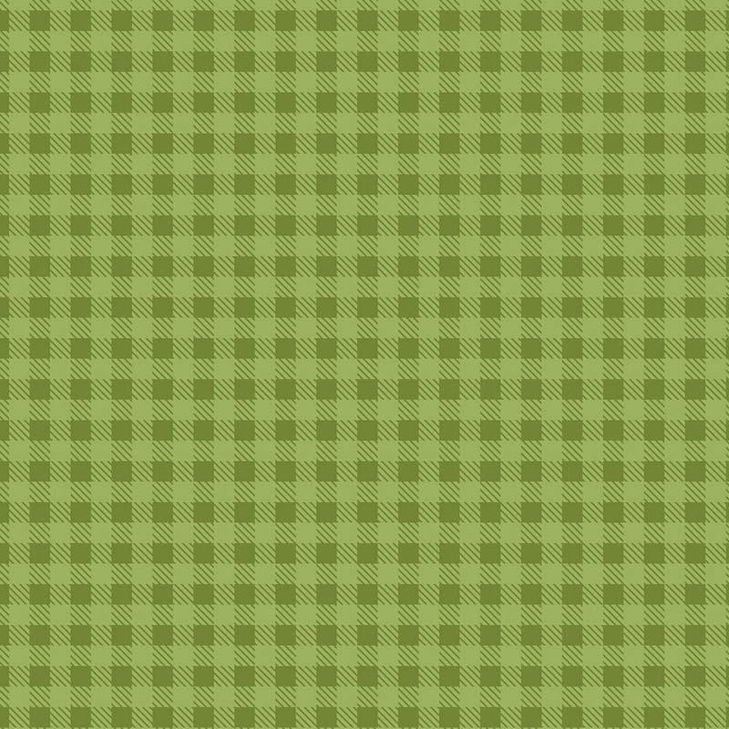 Fabricart Coleção Basic Colors Xadrez - Estampa Basics Xadrez Grama - 50cm x 150cm
