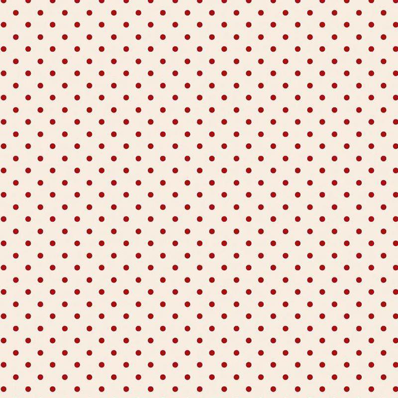Fabricart Coleção Basics & Colors - Mini Poá Vermelho - 50cm X150cm