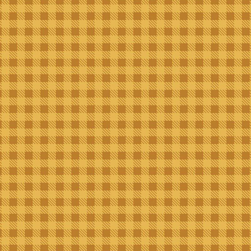 Fabricart Coleção Basics & Colors - Xadrez Mostarda - 50cm X150cm