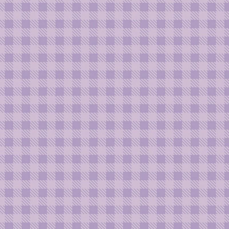 Fabricart Coleção Basics & Colors - Xadrez Rosa Lilac - 50cm X150cm