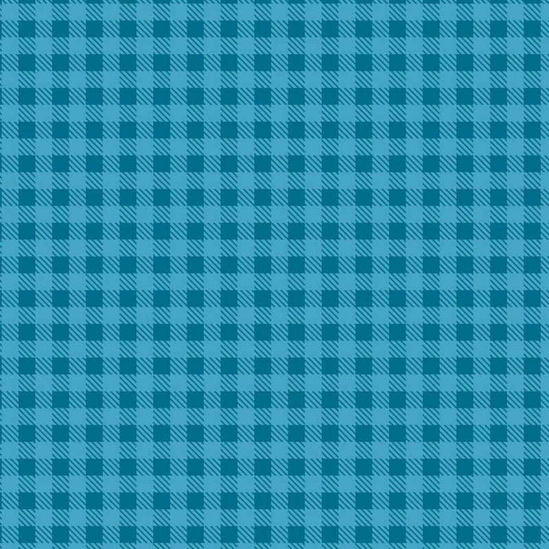 Fabricart Coleção Basics & Colors - Xadrez Turquesa - 50cm X150cm
