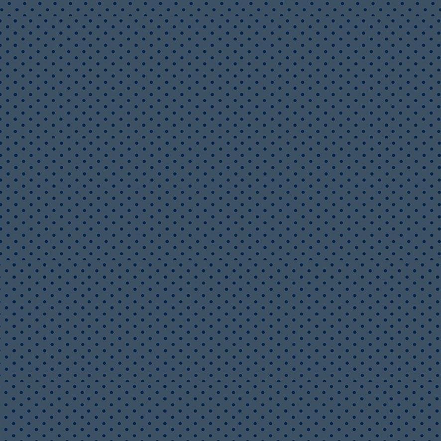 Fabricart Coleção Girassóis - Poá Tom Tom Azul Noturno - 50cm X150cm