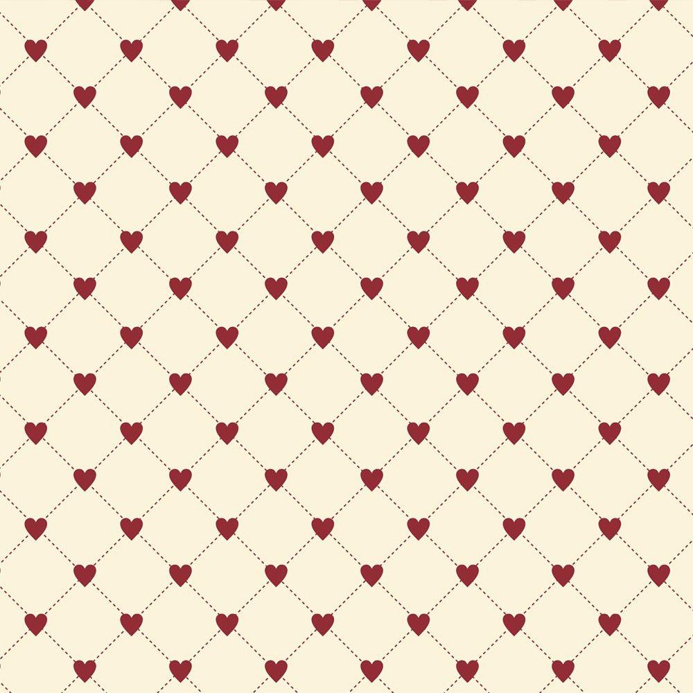 Fabricart Coleção I Love You - Cerca de Corações - 50cm X150cm