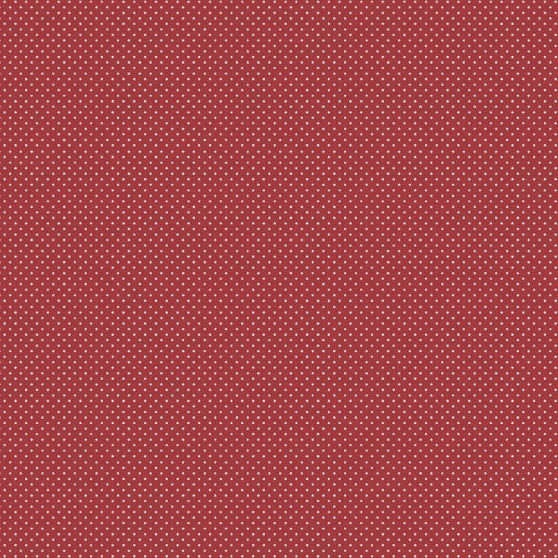 Fabricart Coleção I Love You - Poá Creme no Vermelho  - 50cm X150cm