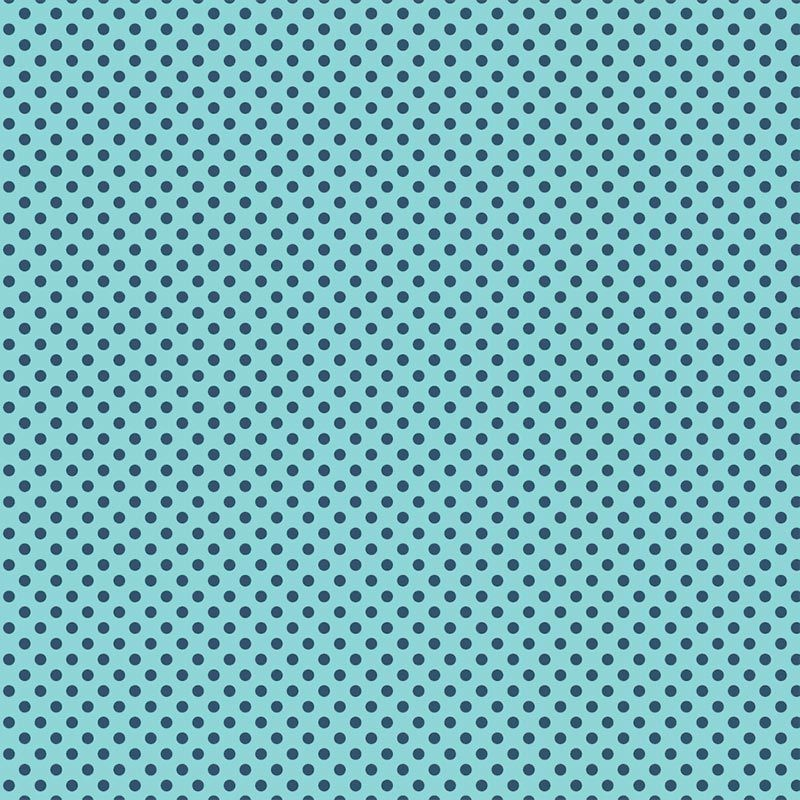 Fabricart Signature - Coleção Espacial - Poá Médio Ton Ton Azul - 50cm X150cm