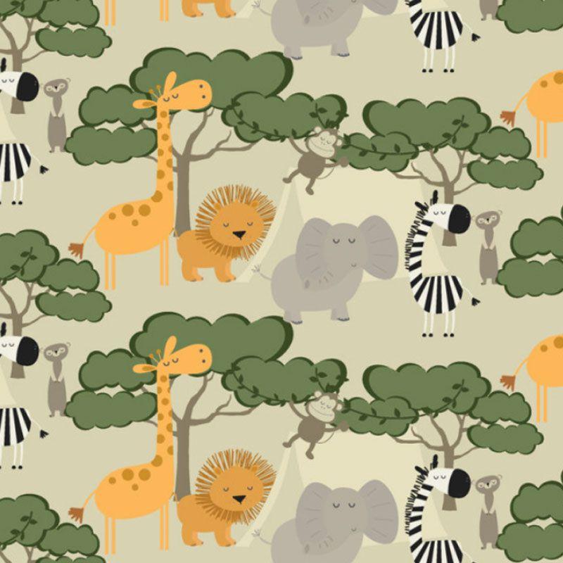 Fabricart Signature - Coleção Safari - Estampa Turma na Selva - 50cm X150cm