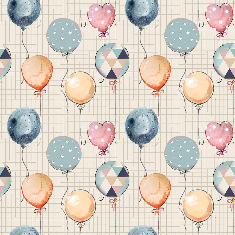 Fuxicos e Fricotes Coleção Animais na Floresta - Mini Balões - 50cm X150cm