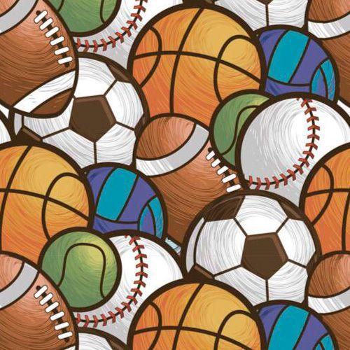 Fuxicos e Fricotes Coleção Esportes - Multi Bolas Esportes - 50cm X150cm