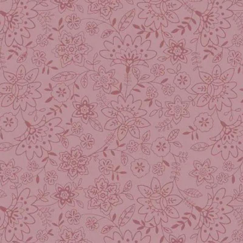 Fuxicos e Fricotes Coleção Jardim Delicado - Básico Jardim Delicado Rosa - 50cm X150cm
