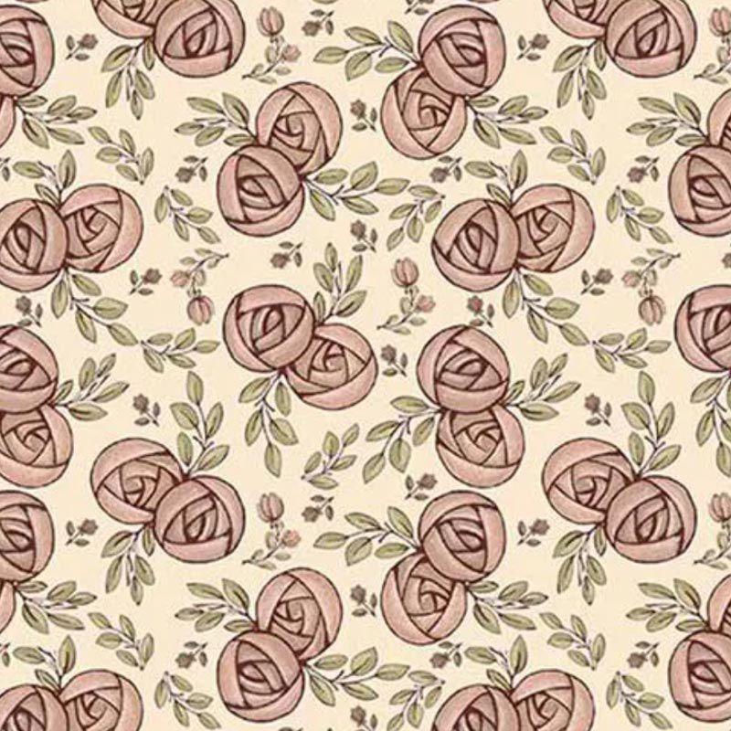 Fuxicos e Fricotes Coleção Necessaires Faça Você Mesmo - Mini Flores Romance - 50cm X150cm