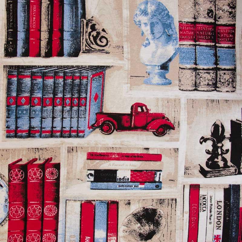 Tecido Gorgurão - Estante Livros - 50cm x 140cm
