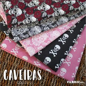 Kit 8 Estampas - Caveiras - (50cm x 150cm por estampa)