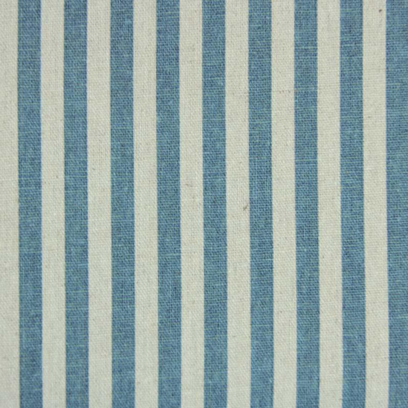 Linho Misto - Estampa Listrado Azul - 50cm x 140cm