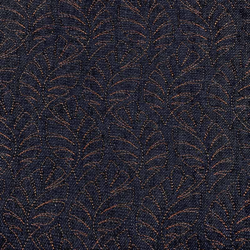 Tecido Matelassado Jeans Costela de Adão Linha Caramelo - 50cm X 150cm