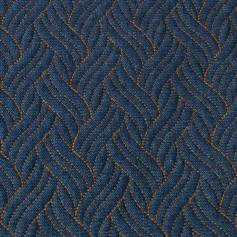 Tecido Matelassado Jeans Trança Linha Caramelo - 50cm X 150cm