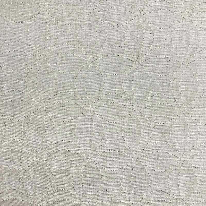 Tecido Matelassado Linho Flor de Lótus - 50cm X 140cm